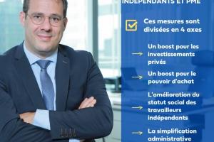 Budget 2022 : David Clarinval souligne des avancées importantes obtenues pour les indépendants et les PME